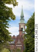 Купить «Copenhagen City Hall,», фото № 24348235, снято 18 августа 2018 г. (c) mauritius images / Фотобанк Лори