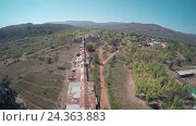 Купить «Aerial view on Shwe Inn Thein Paya temple, Myanmar», видеоролик № 24363883, снято 17 ноября 2016 г. (c) Михаил Коханчиков / Фотобанк Лори
