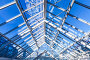 High-tech architecture, glass roof, фото № 24364219, снято 15 октября 2016 г. (c) Евгений Сергеев / Фотобанк Лори