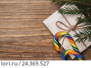 Купить «Письмо Деду Морозу на Новый год с пространством для текста, вид сверху», фото № 24369527, снято 19 ноября 2016 г. (c) Сергей Чайко / Фотобанк Лори