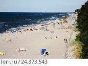 Купить «Poland, West Pomeranian, Trzesacz, German Hoff an der Ostsee, beach», фото № 24373543, снято 21 июля 2019 г. (c) mauritius images / Фотобанк Лори