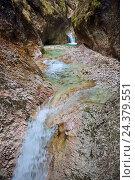 Купить «Course of a stream in the Almbachklamm (gorge)», фото № 24379551, снято 16 августа 2018 г. (c) mauritius images / Фотобанк Лори