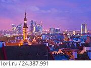 Купить «View of Tallinn, Estonia», фото № 24387991, снято 20 апреля 2018 г. (c) mauritius images / Фотобанк Лори