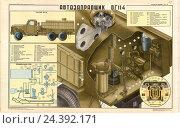 Плакат: Автозаправщик 8Г114, иллюстрация № 24392171 (c) Артем Сеттаров / Фотобанк Лори