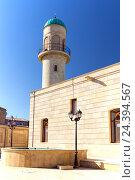 Купить «Джума-мечеть Гейдар в поселке Мардакан Хазарского района. Открыта в 1893 году. Баку. Азербайджан», фото № 24394567, снято 26 сентября 2015 г. (c) Евгений Ткачёв / Фотобанк Лори