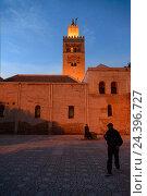 Купить «Africa, Morocco, Marrakech, Kutubiya mosque in the evening mood,», фото № 24396727, снято 22 мая 2019 г. (c) mauritius images / Фотобанк Лори