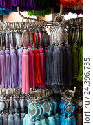 Купить «Africa, Morocco, Marrakech, Souks, ornamental tassel,», фото № 24396735, снято 22 мая 2019 г. (c) mauritius images / Фотобанк Лори