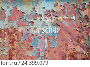 Купить «Metal surface, rust, corrosion,», фото № 24399079, снято 15 апреля 2012 г. (c) mauritius images / Фотобанк Лори