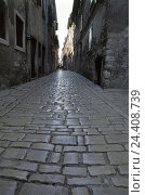 Купить «Lane, closely, paving-stones, Italy, South Tyrol, Old Town, terrace, houses, street, paved, cobblestones, narrowness, deserted, rest, exit, loneliness, BT», фото № 24408739, снято 16 июля 2003 г. (c) mauritius images / Фотобанк Лори