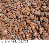 Купить «Pebbles, reddish, stones, size, forms, differently, background, product photography, Still life, Cote d'Azur,», фото № 24408771, снято 12 июля 2004 г. (c) mauritius images / Фотобанк Лори