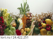 Купить «Vegetables, fruit, differently, Still life, cut out, radish, dill, parsley, salad, green, red, beans, know, peas, pods, courgette, bulbs, paprika, chicory...», фото № 24422251, снято 5 декабря 2006 г. (c) mauritius images / Фотобанк Лори