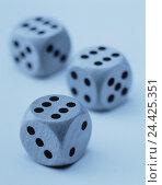 Купить «Cubes, three, Pasch, monochrome, craps, throw, game chance, craps, profit success, decision, Sechser Pasch, Sechsen, game cube, game, luck, chance, product photography, Still life, blur, studio, blue», фото № 24425351, снято 22 августа 2002 г. (c) mauritius images / Фотобанк Лори