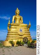 Купить «12 метровое высокое большое изображение Будды, из 22 тонн латуни в Пхукете», фото № 24427323, снято 14 февраля 2013 г. (c) Олег Жуков / Фотобанк Лори