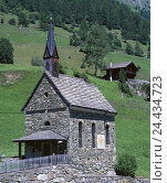 Купить «Austria, Osttirol, Hinterbichl, band, Tyrol, mountain region, building, stone church, stone band, church, small, idyllic, faith, religion, Christianity, summer, nobody,», фото № 24434723, снято 19 июня 2018 г. (c) mauritius images / Фотобанк Лори