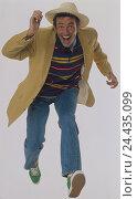 Купить «Man, care, run, hasten studio young, hairs, brown, jacket, jeans, sneakers, haste, Having, happy, joy, fun, amusement, punctuality, Unpünktlichket, cheerfulness...», фото № 24435099, снято 15 января 2002 г. (c) mauritius images / Фотобанк Лори