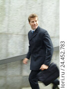 Купить «Pedestrian subway, businessman, briefcase, stairs, run, go down, blur town, underpass, steps, man, manager, 30-40 years, briefcase, motion, down, haste...», фото № 24452783, снято 19 августа 2004 г. (c) mauritius images / Фотобанк Лори