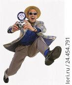 "Купить «Photographer, sunglasses, care, camera, motion, run, happy, Men, man, camera, take photos, journalist, reporter, haste, Having, Sensation, Joy, Caper, Dynamics, ""of raving reporters"", studio, cut out,», фото № 24454791, снято 25 сентября 2000 г. (c) mauritius images / Фотобанк Лори"