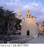Купить «Montenegro, Budva, Old Town, church Santa Maria, cathedral S. Joan Stadtansicht, churches, parish churches, buildings, structures, architecture, places interest, culture, outside», фото № 24467955, снято 18 октября 2002 г. (c) mauritius images / Фотобанк Лори
