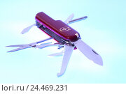 Купить «Penknife, red, opened out, knife, opened, tools, multifunction, practically, multifunctionally, choice, variety, functions, various, possibilities, universal...», фото № 24469231, снято 30 декабря 2004 г. (c) mauritius images / Фотобанк Лори