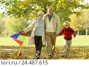 Купить «Forest way, Senior couple, granddaughter, walk, dragon, carry couple, senior citizens, arm in arm, Best Ager, Best Agers, old person, difference, old,...», фото № 24487615, снято 16 декабря 2003 г. (c) mauritius images / Фотобанк Лори