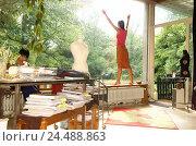 Купить «Man, sit young, desk, window pane, woman, gesture, freedom, inspiration, back view, young persons, youth, flat, inside, 20-30 years, students, couple,...», фото № 24488863, снято 1 марта 2004 г. (c) mauritius images / Фотобанк Лори