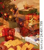 Купить «Christmas tree, Christmas presents, plates, biscuits, curled, tea warmer candle decoration, decorates, affectionately, for Christmas, yule tide, presents...», фото № 24491799, снято 29 сентября 2004 г. (c) mauritius images / Фотобанк Лори