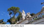 Купить «Фонтан богини Рима. Италия», видеоролик № 24494423, снято 17 февраля 2015 г. (c) Никита Майков / Фотобанк Лори