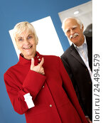 Купить «Boutique, Senior couple, shopping tour, woman, jacket red, try, select, together, happy, 60-70 years, married couples, married couple, couple, senior citizens...», фото № 24494579, снято 2 декабря 2004 г. (c) mauritius images / Фотобанк Лори