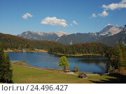 Купить «Germany, Bavaria, loud lake, mountain landscape, autumn, Upper Bavaria, Werdenfels, scenery, nature, Idyll, mountains, alps, mountains, Soierngebirge,...», фото № 24496427, снято 29 февраля 2008 г. (c) mauritius images / Фотобанк Лори