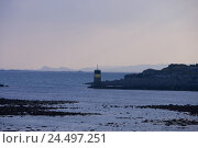 Купить «France, Brittany, Finistere, Roscoff, lighthouse, low tide, the Atlantic,», фото № 24497251, снято 26 февраля 2008 г. (c) mauritius images / Фотобанк Лори