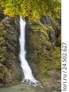 Купить «Austria, Pongau, Liechtenstein gorge, waterfall, autumn,», фото № 24502627, снято 16 августа 2018 г. (c) mauritius images / Фотобанк Лори