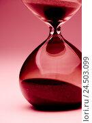 Купить «Hourglass, close up,», фото № 24503099, снято 14 мая 2009 г. (c) mauritius images / Фотобанк Лори