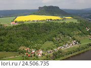 Купить «Germany, Saxon Switzerland, fortress King's stone, Valley view, the Elbe, holiday ship,», фото № 24506735, снято 21 июля 2009 г. (c) mauritius images / Фотобанк Лори