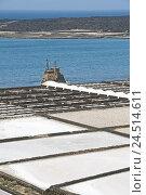 Купить «Spain, Canary islands, Lanzarote, Salinas de Janubio,», фото № 24514611, снято 2 февраля 2010 г. (c) mauritius images / Фотобанк Лори