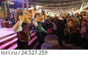 Купить «Москва, ростовые куклы на Красной площади, предновогодние дни», эксклюзивный видеоролик № 24527259, снято 10 декабря 2016 г. (c) Дмитрий Неумоин / Фотобанк Лори