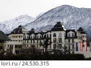 Купить «Austria, Osttirol, Lienz, Grand Hotel, spleen cerium to dolomites,», фото № 24530315, снято 13 апреля 2010 г. (c) mauritius images / Фотобанк Лори