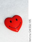 Купить «Heart, look, smiley,», фото № 24532135, снято 17 апреля 2009 г. (c) mauritius images / Фотобанк Лори