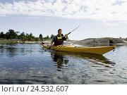 Купить «Kayak drivers,», фото № 24532607, снято 19 июля 2018 г. (c) mauritius images / Фотобанк Лори