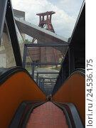 Купить «Germany, North Rhine-Westphalia, food, coal-mine inch club, escalator and hoist frame,», фото № 24536175, снято 21 июля 2010 г. (c) mauritius images / Фотобанк Лори