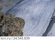 Купить «Switzerland, Valais, Cerium-weakly, small Matterhorn, Theodulgletscher, glacier tongue,», фото № 24543839, снято 28 октября 2008 г. (c) mauritius images / Фотобанк Лори