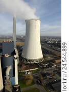 Купить «Coal-fired power station, cooling tower, energy production,», фото № 24544899, снято 19 сентября 2008 г. (c) mauritius images / Фотобанк Лори