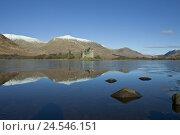 Купить «Scotland, Argyll and Bute, hole Awe, castle Kilchurn Castle,», фото № 24546151, снято 15 февраля 2010 г. (c) mauritius images / Фотобанк Лори