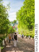 Купить «Свято-Успенский Псково-Печерский монастырь», эксклюзивное фото № 24546175, снято 28 июня 2016 г. (c) Владимир Чинин / Фотобанк Лори