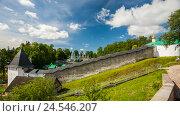 Купить «Свято-Успенский Псково-Печерский монастырь», эксклюзивное фото № 24546207, снято 28 июня 2016 г. (c) Владимир Чинин / Фотобанк Лори