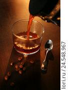 Купить «Glass, coffee, pour in, spoon, coffee beans, in Italian, brown, beans, roast coffee, roasted, freshly, hot drink, caffeine, caffeine-containing, coffee glass,», фото № 24548967, снято 2 июня 2008 г. (c) mauritius images / Фотобанк Лори