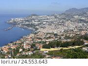 Купить «Portugal, island Madeira, Funchal, town view,», фото № 24553643, снято 15 июня 2009 г. (c) mauritius images / Фотобанк Лори