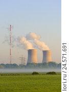 Купить «Germany, Bavaria, Lower Franconia, field Grafenrhein, nuclear power plant,», фото № 24571691, снято 15 июня 2008 г. (c) mauritius images / Фотобанк Лори