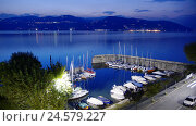 Купить «Italy, Piedmont, Lago Maggiore, Intra, harbour, evening, Europe, destination, lake, travel, holidays, vacation, boots, leisure time, sports boots, sailboats, tourism, Idyll, summer, view,», фото № 24579227, снято 7 апреля 2008 г. (c) mauritius images / Фотобанк Лори