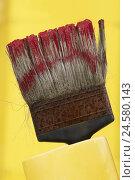 Купить «Brush, bristles, rust, colour, red, yellow,», фото № 24580143, снято 22 января 2010 г. (c) mauritius images / Фотобанк Лори