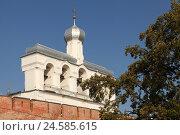 Купить «Звонница Софийского собора в Великом Новгороде», эксклюзивное фото № 24585615, снято 20 сентября 2014 г. (c) Самохвалов Артем / Фотобанк Лори